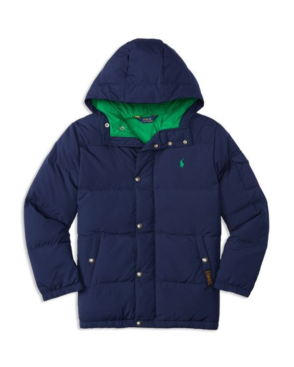 Ralph Lauren Childrenswear Boys' Matte Finish Down Puffer Jacket - Sizes S-xl