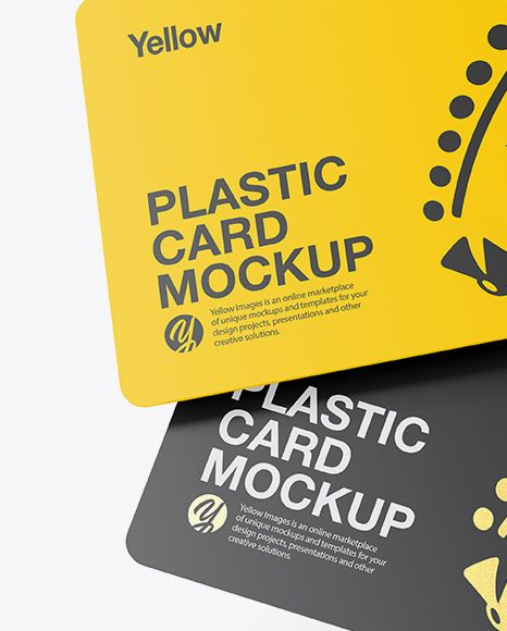 Two Plastic Cards Mockup. Present your design on this mockup. Includes special l…