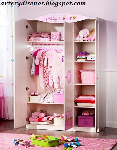 dise os de closet para bebes by