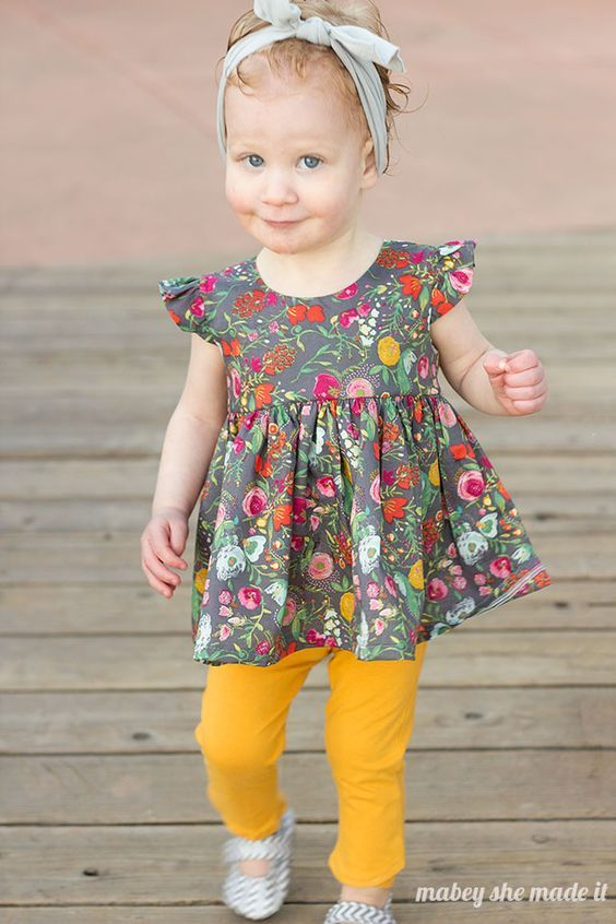 FREE Flutterby Top Pattern & Tutorial 1