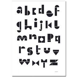 German ABC Print - Black & White