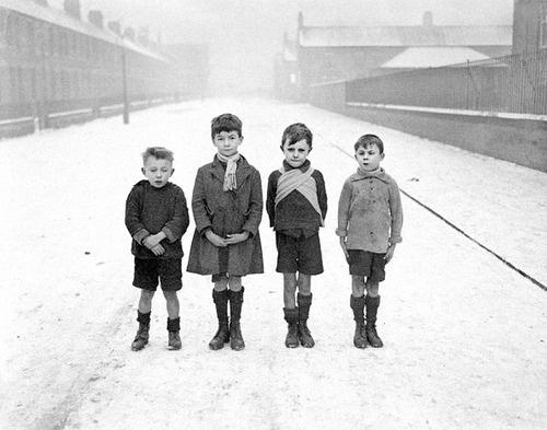 Poor children of Ashington in Northumberland, England [1929]
