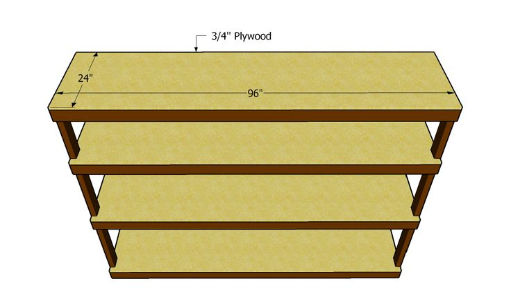 Plywood Shelf Plans This Bookcase Is Made From 3 4 Plywood