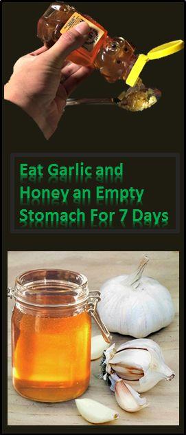 Eat Garlic And Honey on Empty Stomach For 7 days #Eat #Garlic #Honey #Healthy #Remedy