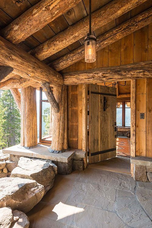 1000 images about log timber stone architecture on for Stone log cabin