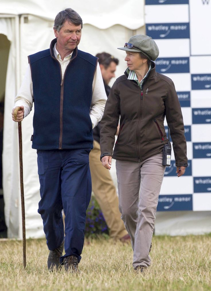 Princess Anne alongside Christian Landholt, the hotel owner of the Whatley Manor Hotel and Spa.