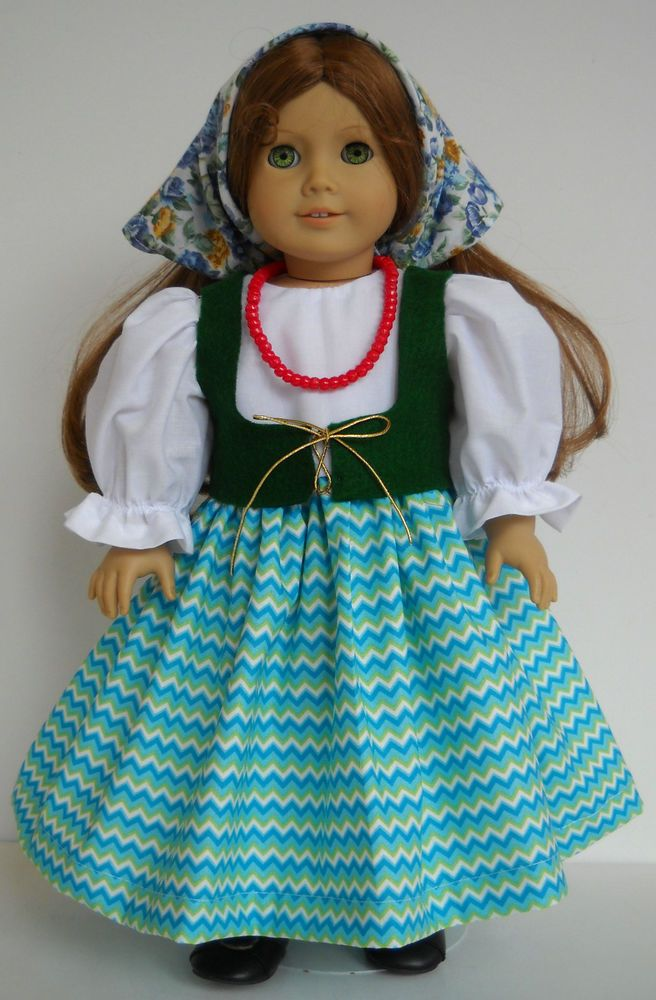 "Fits 18"" American Girl doll Italy Italian folk dress clothes D (COSTUME ONLY)"