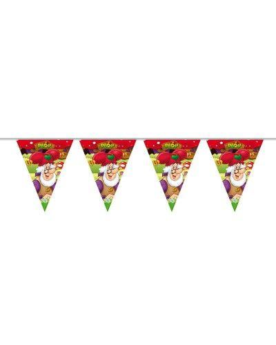 Kabouter Plop Slingers. Prachtige kwaliteit met veel kleur. De slinger is 6 meter lang. Geef een compleet Plop feestje voor je kind met alle soorten feestartikelen.