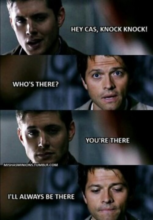 Okay, I love this, but would Cas really understand a knock knock joke?