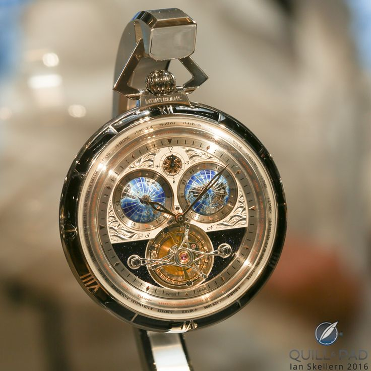 Montblanc 4810 Villeret Tourbillon Cylindrique Pocket Watch 110 Years Edition