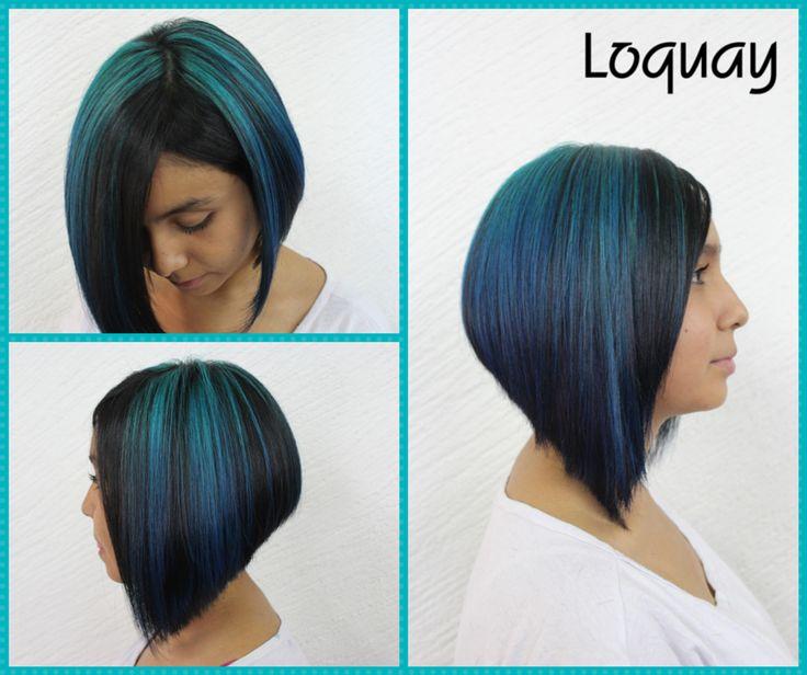 Colores fantasía como el Turquesa y el Azul quedan increíbles en la piel morena.
