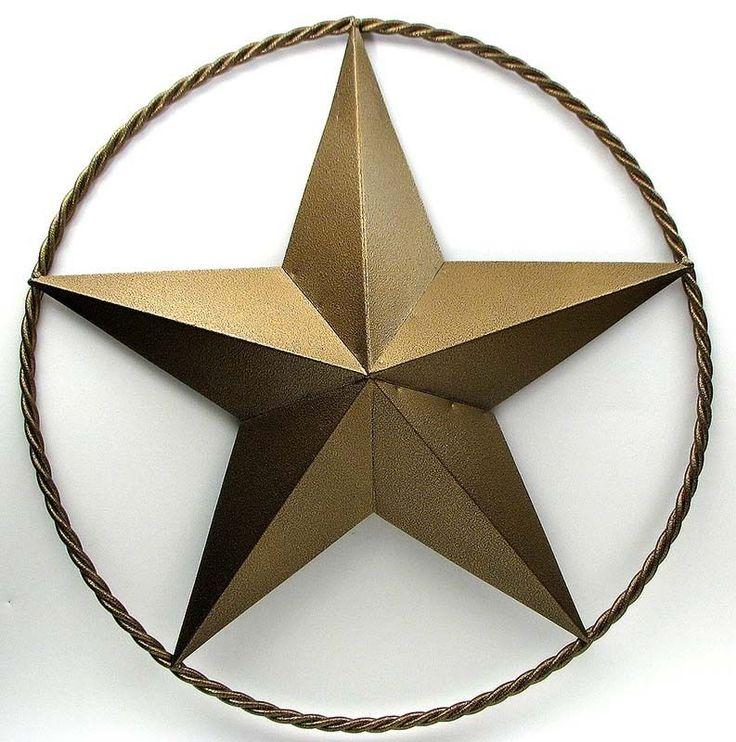 "NEW 30"" RUSTIC FARMHOUSE GOLD METAL STAR TEXAS LONE STAR WALL DOOR HOME DECOR #Farmhouse"
