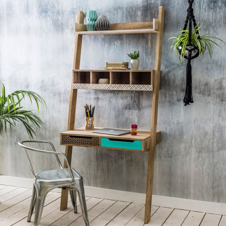 Emmeline Ladder Desk. This is so cool!                                                                                                                                                                                 More