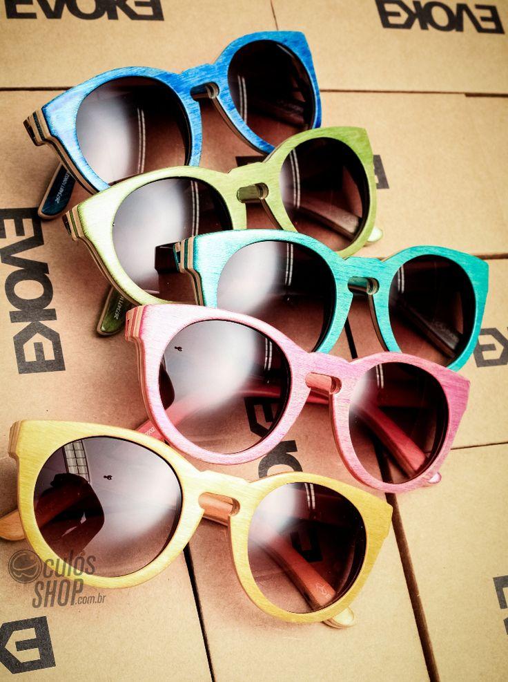 Coloridos e ainda feitos de madeira. Estes são os óculos Evoke com sua coleção Maple Collection. 8) #oculos #evoke #madeira #colorido #retro #estilo #style #cute #girl #summer #maple #collection #eyewear