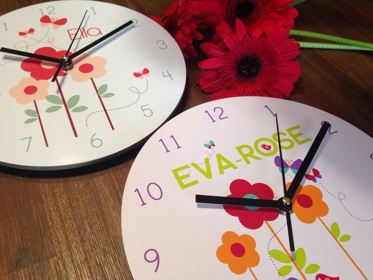Personalised clocks! By Colour and Spice.