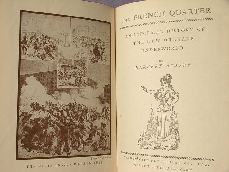 Antique The French Quarter An Informal History of the New Orleans Underworld book by Herbert Asbury, 1936, The South, Louisiana antique book by ShoponSherman on Etsy