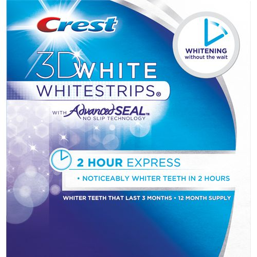 Crest 3D White 2-hour Express Whitestrips - they actually work! (and there was no pain, even if I expected some)