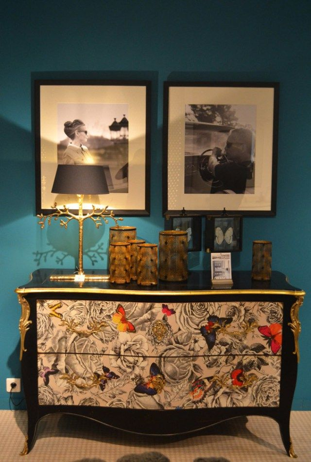 Maison et Objet 2015 trends. Patterned sideboard. Flowers. Butterflies. Interior design. Luxury furniture. For more news ideas http://www.bocadolobo.com/en/news-and-events/