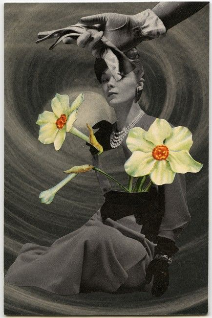 Narcissus, 2010, collage by Angelica Paez. Via Lee A