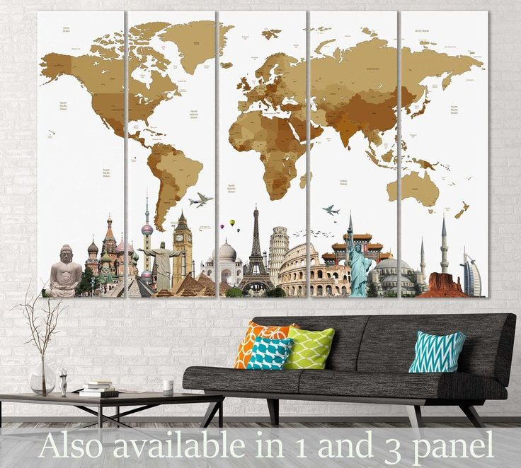 • kids world map •push pin world maps •detailed world maps •watercolor world maps •vintage world maps •map with landmarks