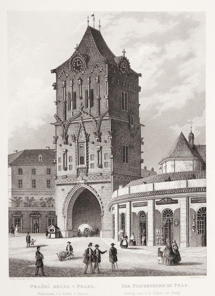 praha-prasna-brana-mikovec-oceloryt-1860.