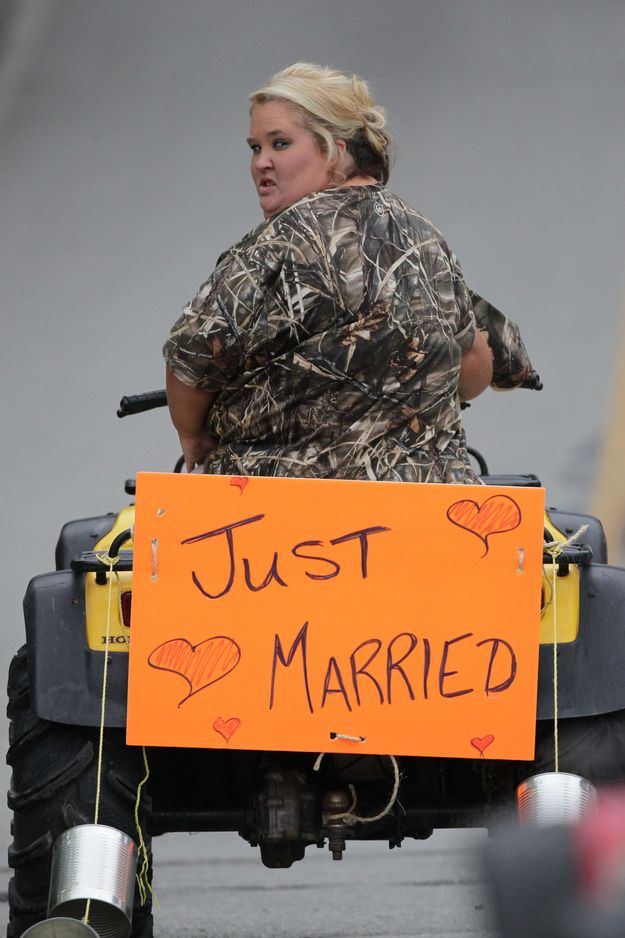 Mama June Got Married In A Camouflage Wedding Dress This Weekend...