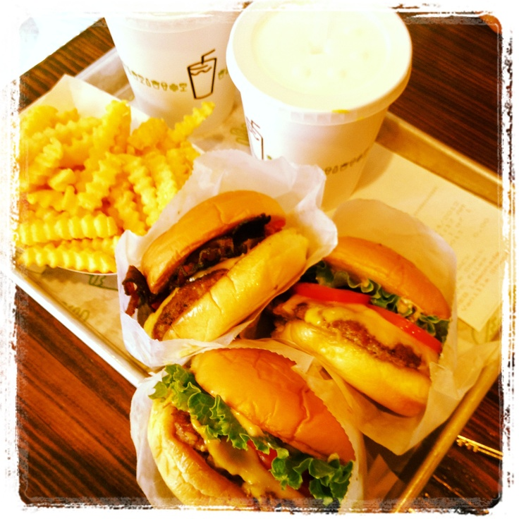 Shake shak in NYC has the same Bistro Burger meat AND some of the best shakes.  I have stood in line for nearly hours it is so good.  #missnycfood Great portabella burger too, for the veggie eaters :)