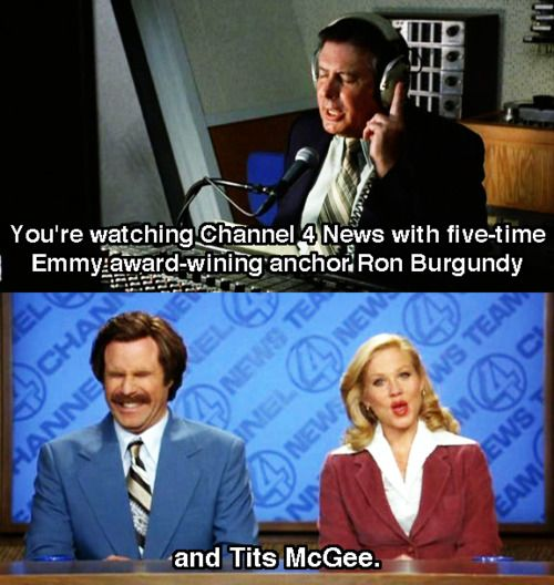 Does Question Mark Go Inside Quotes: 63 Best Images About Anchorman! On Pinterest