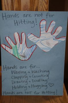 Hands are not for hitting presentation activity idea.  I need to translate the book as well.  Good idea for Pre-K