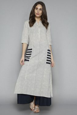 Utsa by Westside Indigo Checks Kurta