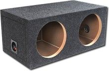 "Atrend - 10"" Dual Sealed Subwoofer Enclosures - Charcoal (Grey)"