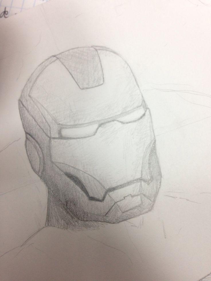 Boceto de Iron Man. Lápiz.