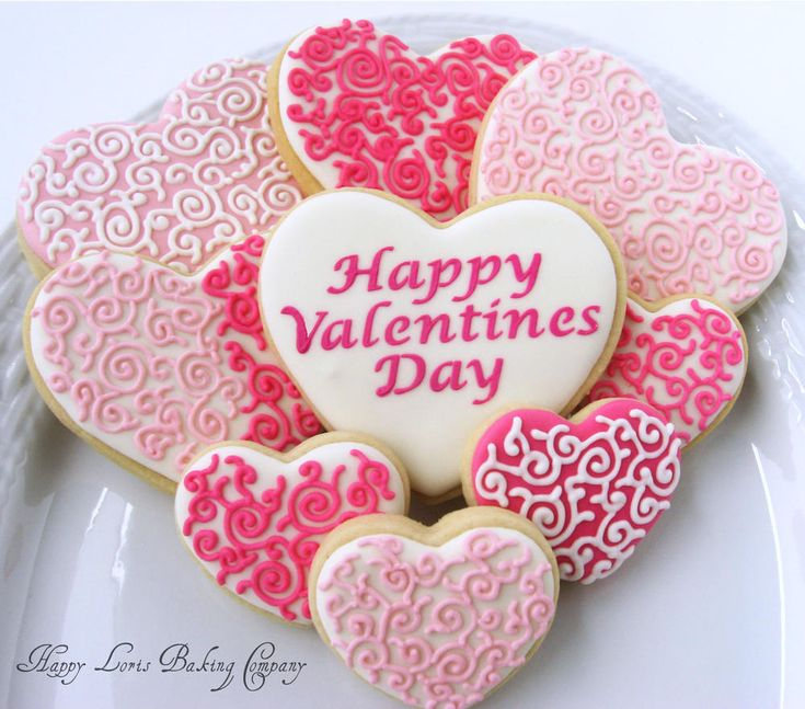60 best Valentines Day Cookies images on Pinterest   Decorated ...