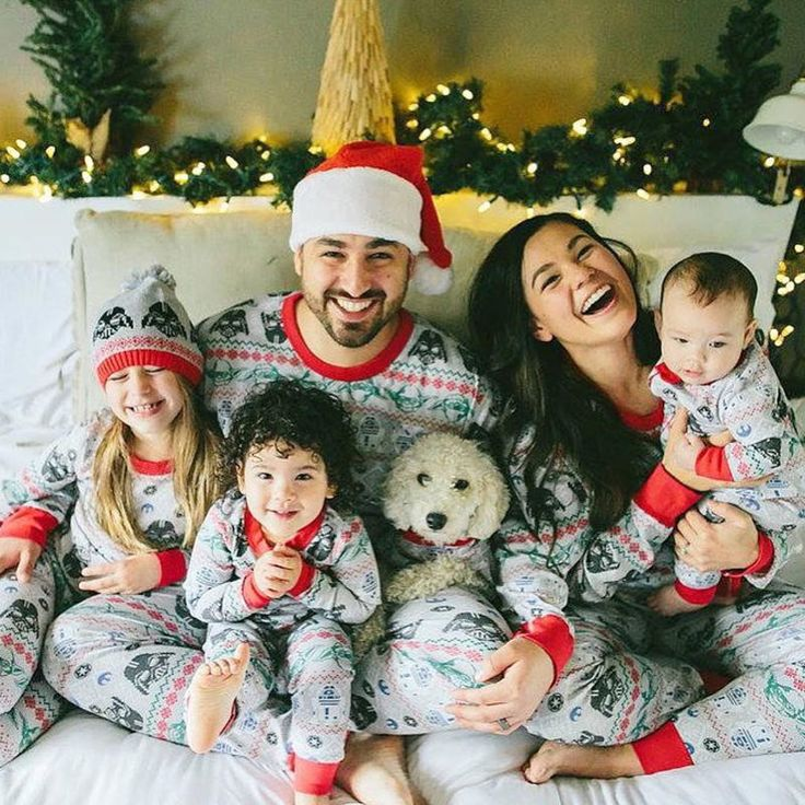Christmas Family Pajamas Set Family Clothing Sets Mother Daughter Father Son Toddler Women Men Clothes Family Set Bodysuit SM68