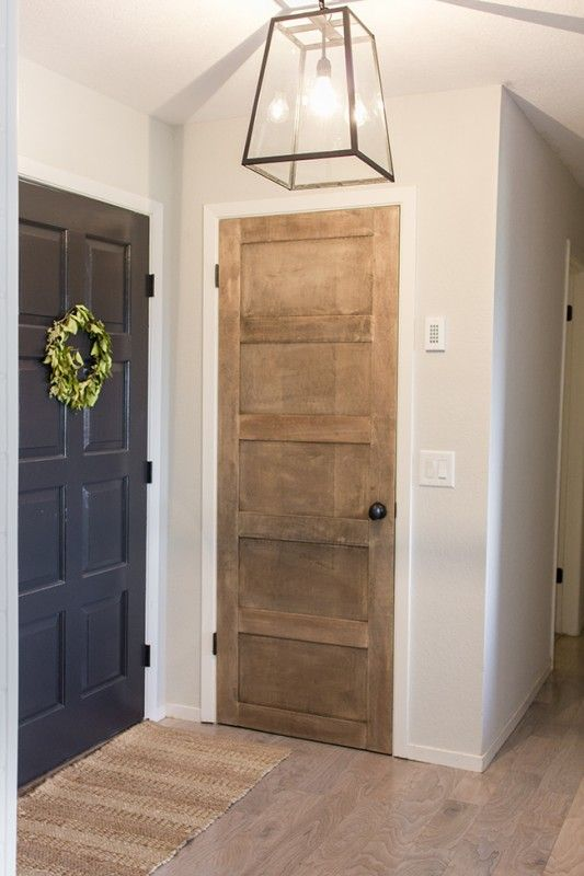 Wooden 5 panel door diy by jenna sue design co featured on for Recycled interior doors
