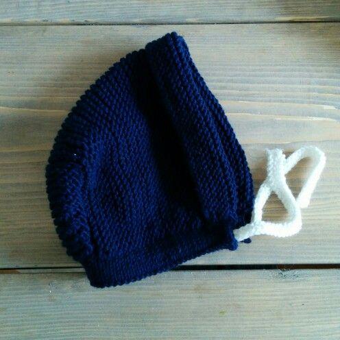 Babys bonnet #ministrikk