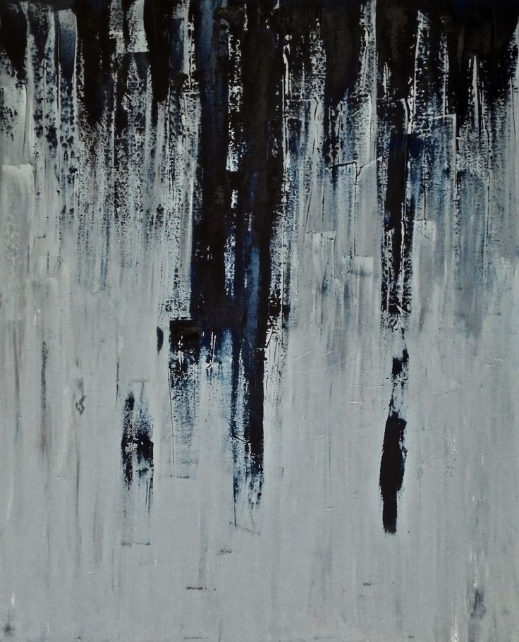 Here Comes The Rain as the example of new dimension of minimal abstract art Polish painter Jacek Sikora