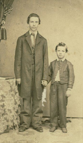Edson and Willie White, c. 1865