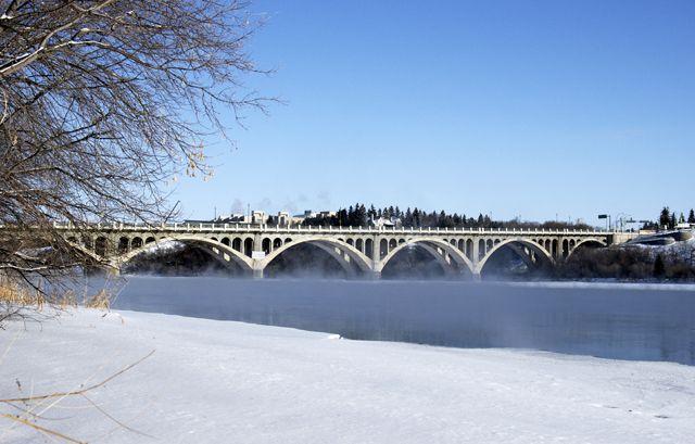 Saskatoon Saskatchewan in the Winter.