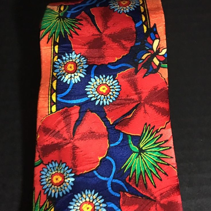 Rush Limbaugh 100% Silk Tie No Boundaries Collection Floral Multi Color USA  | eBay