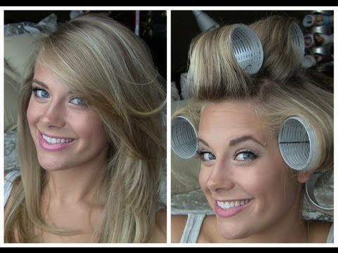 Voluminous Hair with Velcro Rollers, gives the look of a round brush blowout without all the work