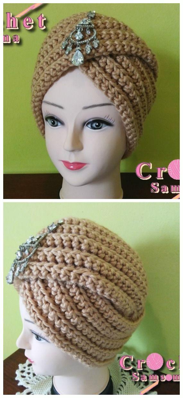 Crochet Turban Hat Free Patterns Instructions Crochet Hats Free Pattern Crochet Crochet Headband