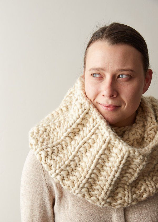 Mistake Rib Cowl in Gentle Giant | Knitting | Pinterest | Patrones ...