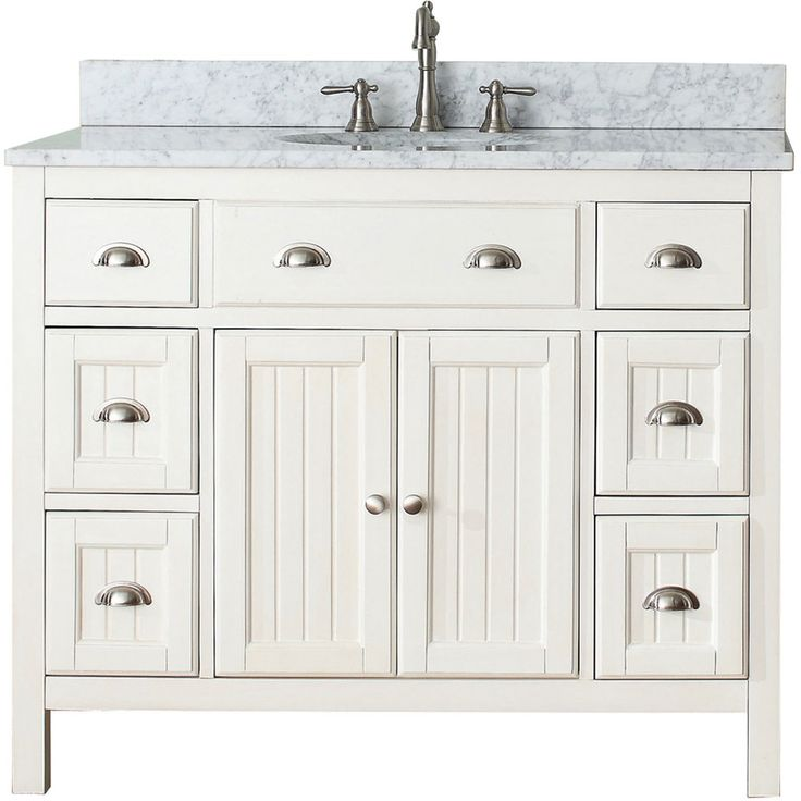 Avanity Hamilton French White 42-inch Vanity Combo | Overstock™ Shopping - Great Deals on Bathroom Vanities