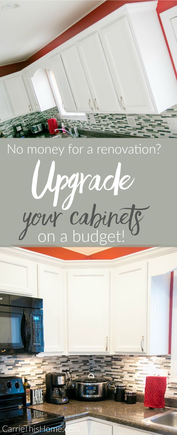 Upgrade Küchenschränke mit kleinem Budget