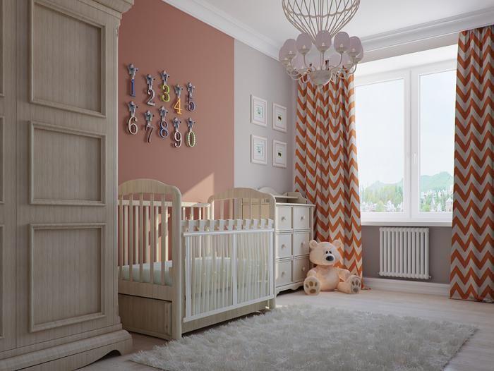 Розовая детская, шторы для детской, декор детской комнаты