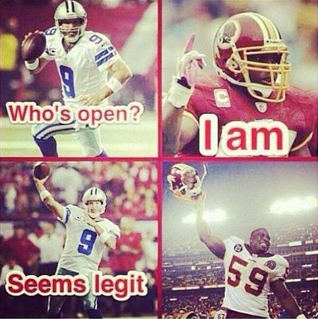 Washington Redskins Football ~ cowboys romo