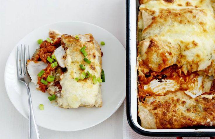 Enchiladas met vis