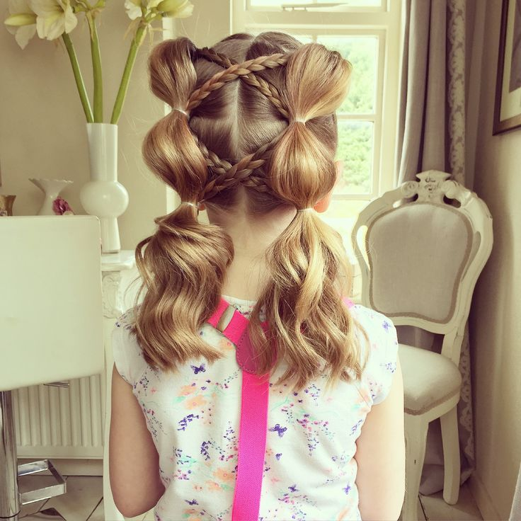 This style takes the idea of the normal bubble braid and adds a bit extra to make it super cute, great for dance, gym and cheerleading! If you can put a hair...