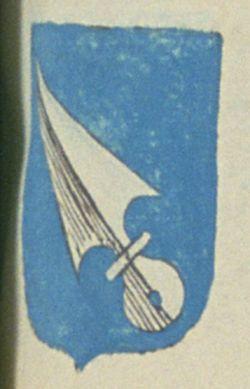 Feu François DE REILLANNE, seigneur, vicomte du dit lieu, suivant la déclaration d'Allice DE FLOTTE, sa veuve. Porte : d'azur, à un soc de charrue, d'argent, posé en bande   N° 13